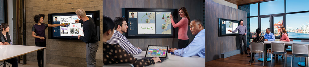 Anwendungssituationen des Microsoft Surface Hub
