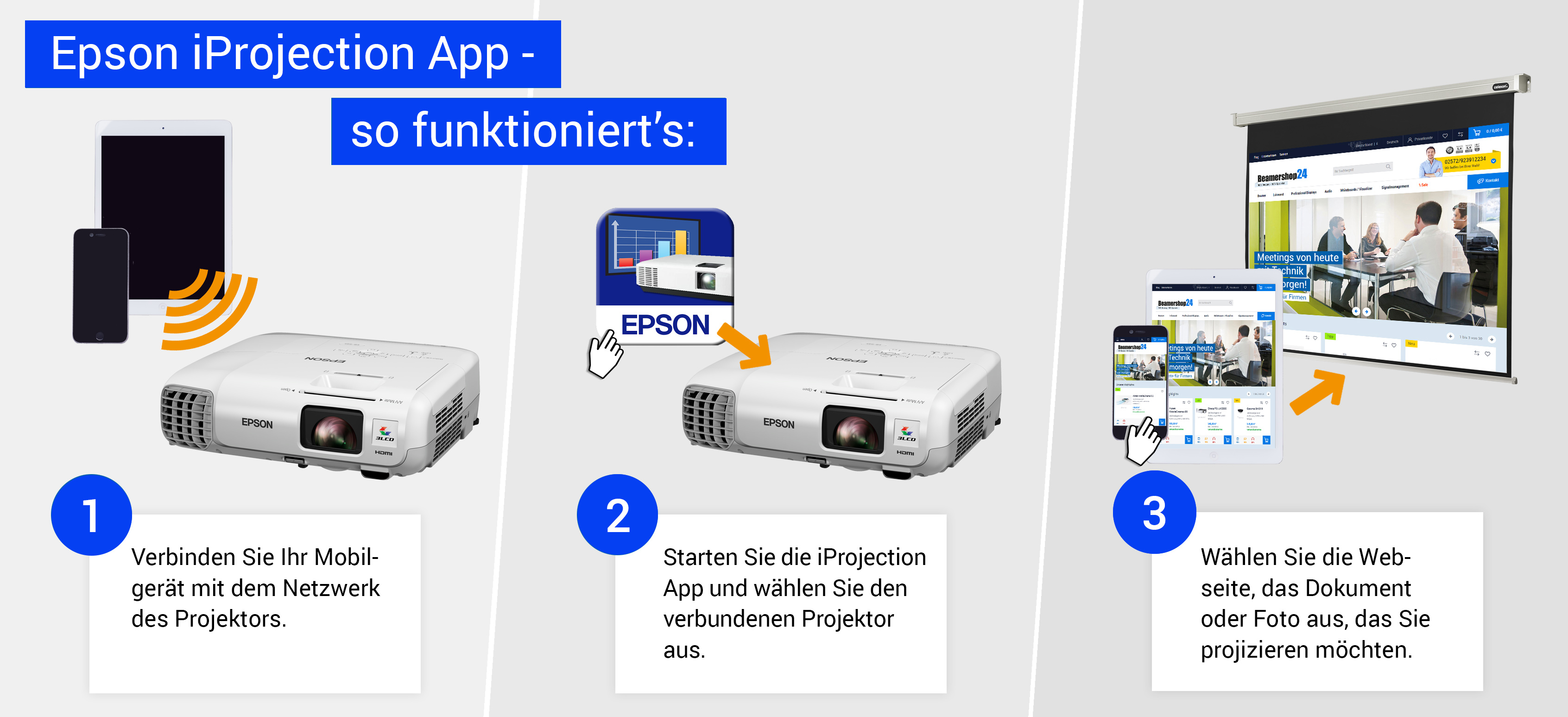 Funktionsweise der Epson iProjection App