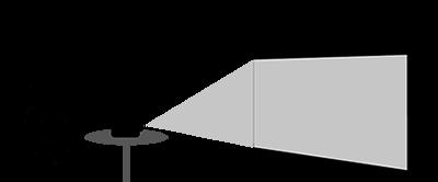 Projektionsart bei Leinwaenden | Frontprojektion