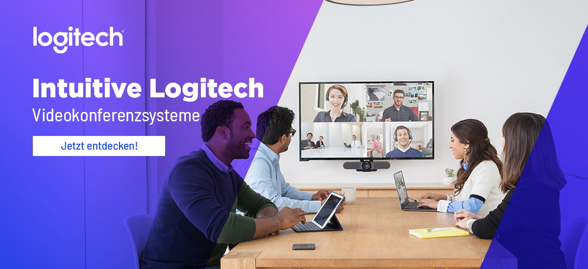 Intuitive Logitech Videokonferenzsysteme
